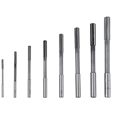 3/4/5/6/7/8/9 / 10mm Hochgeschwindigkeitsstahl HSS 4 Flöte Gerade Fräser Fräser Tools Set 8