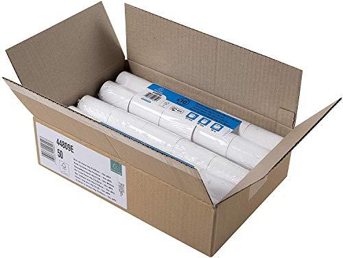 Exacompta - Réf. 44809E - Carton de 50 bobines pour carte bancaire 57x35mm - 1 pli thermique 44g/m2 sans BPA - Blanc - Métrage (+ ou - 2m) : 16 m.