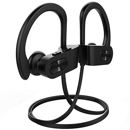 Mpow Flame Bluetooth Kopfhörer, IPX7 Wasserdicht Kopfhörer Sport, Bluetooth 5.0/7-10 Stunden Spielzeit/Bass+ Technologie, Sportkopfhörer Joggen/Laufen, In Ear Kopfhörer mit HD-Mikrofon, schwarz