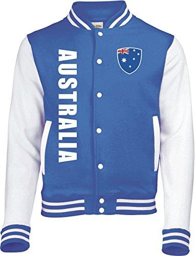 Aprom-Sports Australien College Jacke -Trikot Look - Blau - 6 (L)