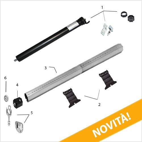 Generico, Kit Tapparelle elettriche 100 kg Rullo 125,1-155 cm