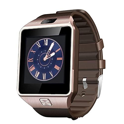 Reloj Inteligente para Hombres y Mujeres, rastreador de Ejercicios, Pantalla táctil, Reloj Inteligente Dz09 con Reloj de Pulsera con cámara Bluetooth, Reloj con podómetro (Blanco)