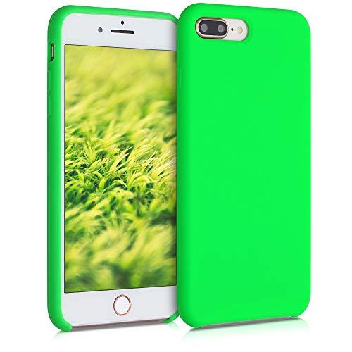 kwmobile Custodia Compatibile con Apple iPhone 7 Plus / 8 Plus - Cover in Silicone TPU - Back Case per Smartphone - Protezione Gommata Verde Fluorescente