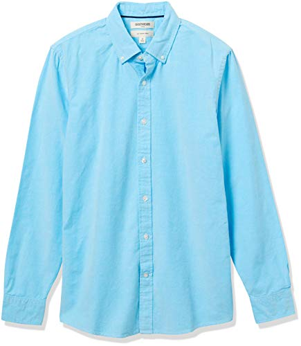 Goodthreads Slim-Fit Long-Sleeve Solid Oxford Shirt Hemd, Turquoise, X-Small