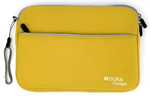 DURAGADGET Funda De Neopreno Amarilla para Woxter SX100 | con Bolsillo Exterior para Guardar Más Objetos