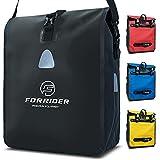 Forrider Fahrradtasche für Gepäckträger Wasserdicht Reflektierend I 22L Gepäckträgertasche | Sattel Tasche fürs Fahrrad zum Einkaufen, Touren (Schwarz)