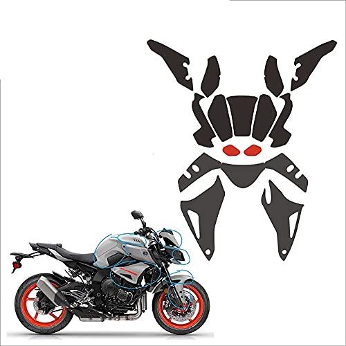 Almohadilla de tanque de motocicleta, Etiqueta protectora del protector del tanque de la motocicleta Todo el automóvil TPU Protección transparente Calcomanía de rasguño para Ya-maha MT10 Etiqueta engo