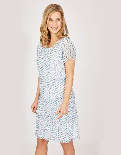 STEILMANN by Adler Mode Damen Stufenkleid blau/weiß 40