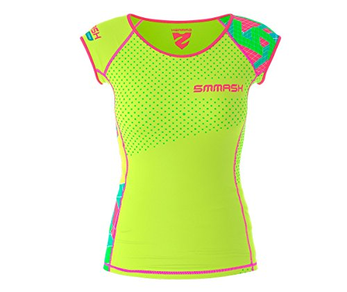SMMASH Go Candy Damen Compression Funktionsshirt Kurze, Atmungsaktiv und Leicht, Sport Funktionsshirt für Crossfit, Gym, Antibakterielles Material, Sportshirt Damen, Hergestellt in der EU(XS)