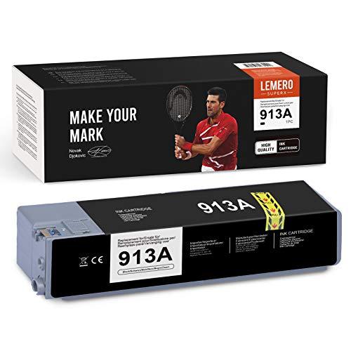 LEMERO SUPERX Cartuchos de tinta 913A compatibles con HP 913A para impresora HP PageWide Pro 377dw 377dn Pro 477dw 477dn Pro 352dn 452dn MFP 477dw 552dw 577dw Managed MFP P55250dw P57750dw (1xnegro)