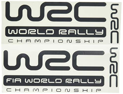 Ecoshirt 96-3CR5-659Q Pegatinas WRC Rally Dr1009 Vinilo Adesivi Decal Aufkleber Клей Stickers Car Voiture, Negro