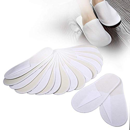Einweg-Slipper, 10 Paare Einweg Hausschuhe aus Vliesstoffmaterial, Komfortabel und tragbar, für Reisen, Hotel oder Spa