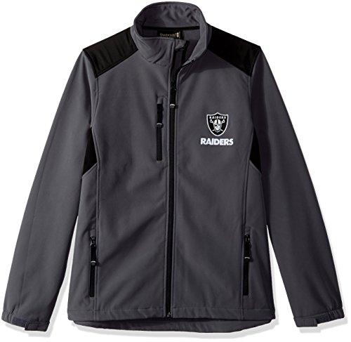 Dunbrooke Apparel NFL Oakland Raiders Men's Softshell Jacket, X-Large, Graphite
