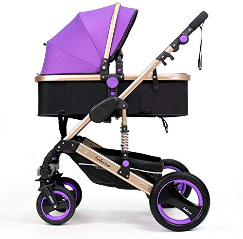 Best Prices! SYue Baby Trolley Baby Carriage Can be Lying Down Trolley, high-Profile Baby Trolley, W...