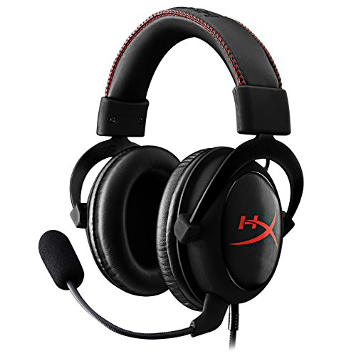 HyperX (KHX-HSCC-BK) Cloud Core Gaming Headset - 53MM Drivers -Works with PC/PS4 and Xbox One, Nintendo Switch-Detachable Microphone-Black