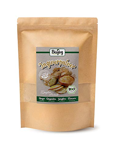 Biojoy Polvere di Zenzero biologico, prodotta dalle radici essiccate di Ginger biologica (1 kg)