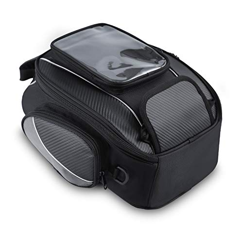 Motorcycle Tank Bag Waterproof with Strong Magnetic Motorbike Bag for Honda Yamaha Suzuki Kawasaki Harley Medium