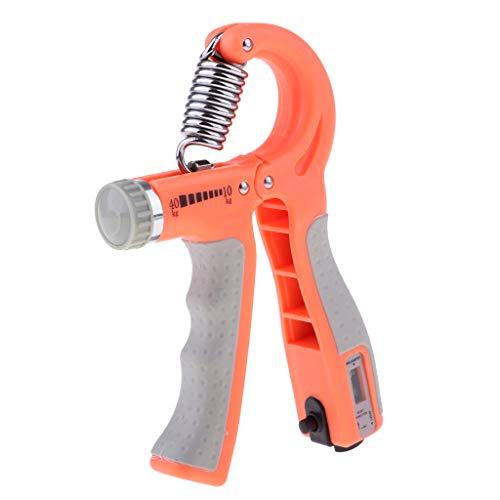 perfeclan Einstellbar Unterarmtrainer Handtrainer Fingertrainer Handgriff Handübungen Hand Finger Trainingsgerät für Herren Damen - Orange