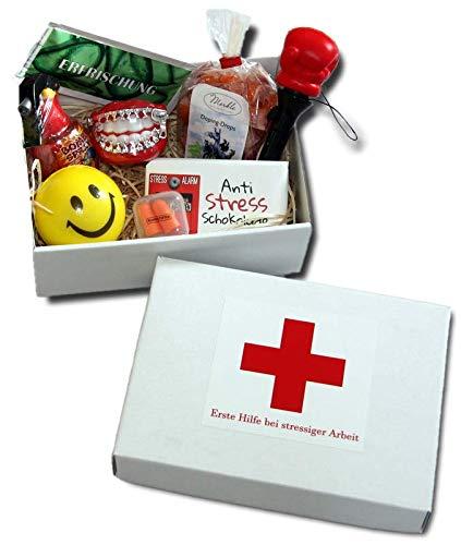Caja de regalo para primeros auxilios en el trabajo estresante, regalos divertidos, empresas de oficina, colegas de regalo divertidos, caja de regalo antiestrés