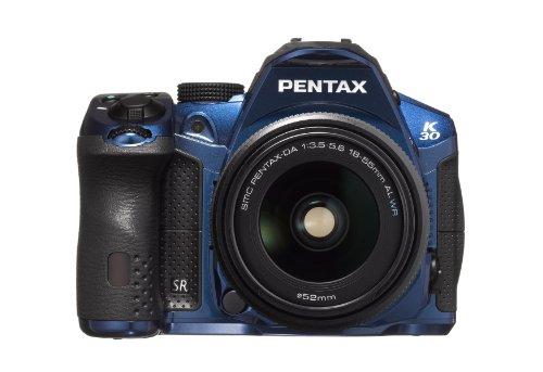 Pentax K-30 Spiegelreflexkamera (7,6 cm (3 Zoll) LCD-Display CMOS-Sensor, 16,3 Megapixel, Full HD, SD-Kartenslot, USB 2.0) blau