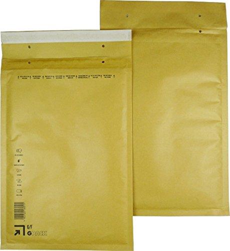 25 braune Luftpolsterumschläge Luftpolstertaschen Versandtaschen 6/F 240x350 mm