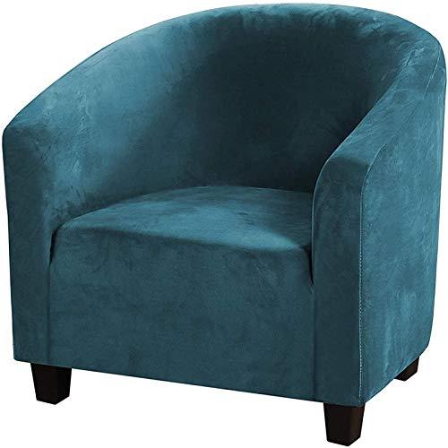 CENPENYA Funda De Sillón Chesterfield Elasticas, Funda para Chair, Fundas De Silla De Bañera De Terciopelo Elástico (1 Pieza,Azul Marino)