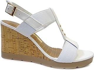 a97951c409 Moda - Branco - Sandálias   Calçados na Amazon.com.br
