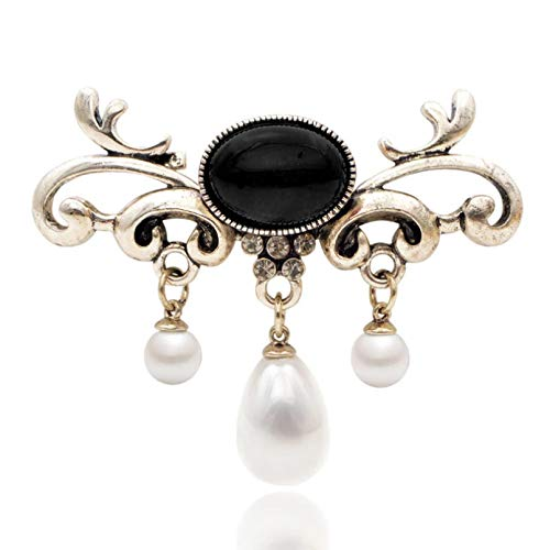 YAMAO Mujer Regalos Broche,Broches Colgantes de Perlas de Moda para Mujer, alfileres...