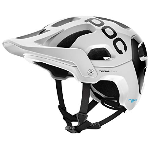 POC Sports Unisex's Tectal Race SPIN Cycling Helmet, Hydrogen White/Uranium Black, XS-S