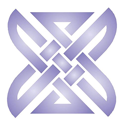 Square Knot Stencil, 4.75 x 4.75 inch (M) - Celtic Knotwork Symbols Stencils for Painting Cards