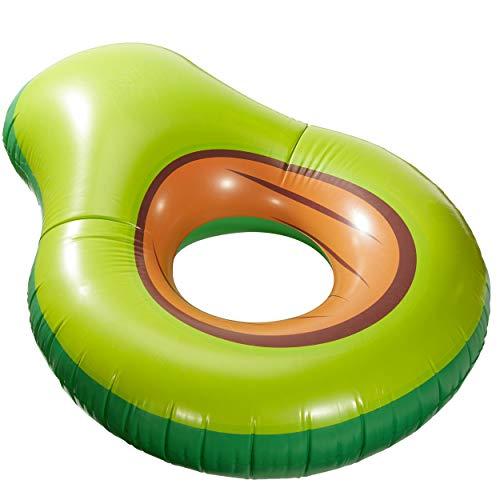 Bada Bing Aufblasbare Avocado Luftmatratze Schwimmring Garten Pool Deko 78