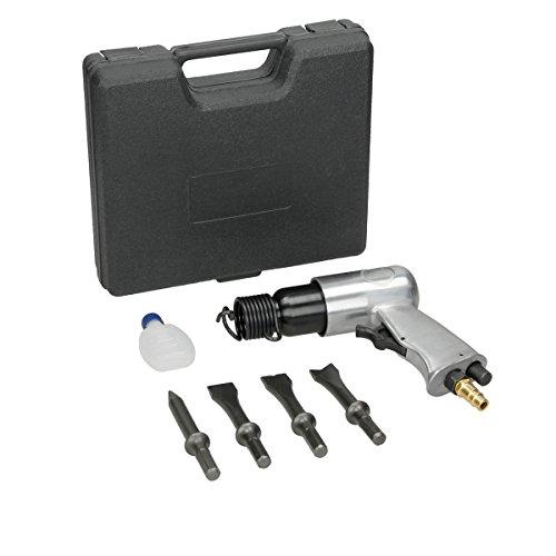ECD Germany Druckluft-Meisselhammer Set - Schlagzahl 4.500 bpm - inkl. 4 Meißeln - 6 bar Arbeitsdruck - inkl. Koffer - Drucklufthammer Pneumatic Hammer Kit