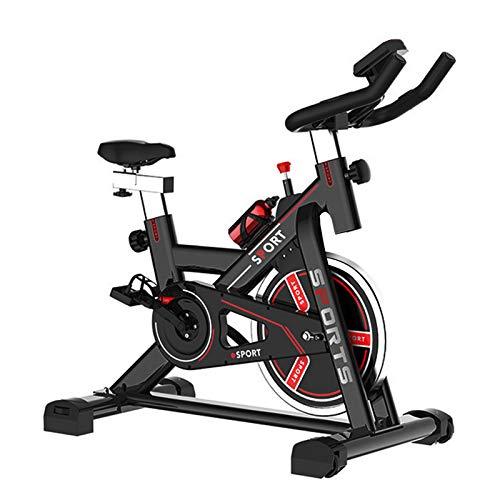 Heimtrainer, Indoor Spinning Bikes Fitnessbike Mit Herzfrequenzmonitor, Hometrainer Fahrrad mit verstellbarem Sitz und Widerstand, Bequeme Sitzkissen für Zuhause Cardio-Workout - Ergometer 150 kg