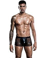 LenceríA EróTica Ropa EróTica Hombres Sexy Perspectiva Negro Ropa Interior Sexy Hombres Calzoncillos Boxer,La