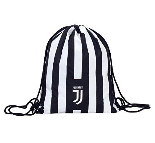 Easy Bag , Juventus Assist , Weiß & Schwarz- 10 Lt , Turnbeutel Sport Schule Und Freizeit