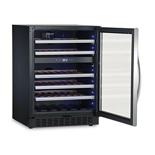 Dometic MaCave S46G, 2 Zonen Wein-Kühlschrank für 46 Flaschen, Weintemperierschrank klein +5 °C bis +22 °C, Wein-Klimaschrank mit Glastür
