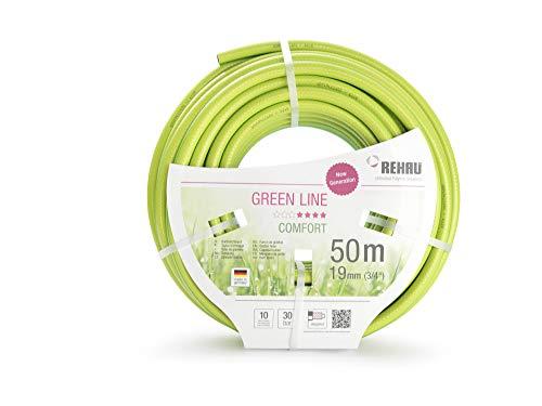 REHAU Gartenschlauch Green LINE, leuchtendes grün, flexibel + druckfest + formstabil (3/4