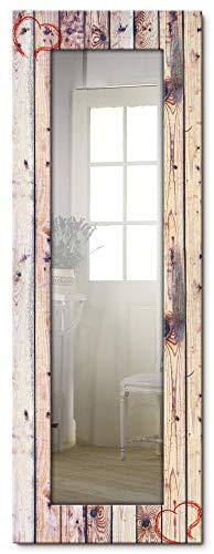 Artland Ganzkörperspiegel Holzrahmen zum Aufhängen Wandspiegel 50x140 cm Design Spiegel Shabby Chic Holzoptik Vintage Herzen T9OJ