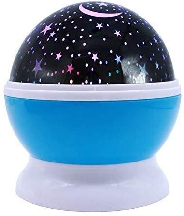 Sterrenprojector, 360 graden, rotatie sterrennachtlamplampen, 8 kleurrijke modi met USB-kabel - blauw [energieklasse A +++] (kleur: blauw)