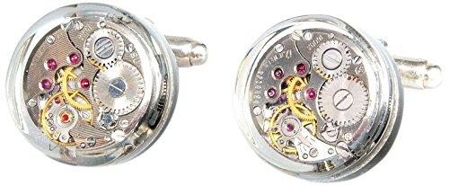 Sparks of Time Gemelos para hombre de plata chapada en oro 410