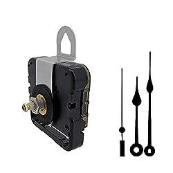Seiko-SKP Quartz Clock Movement Kit with 5 Black Spade Hands for Dials up to 1/4