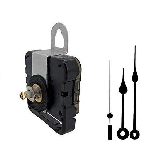 "Seiko-SKP Quartz Clock Movement Kit with 5"" Black Spade Hands for Dials up to 1/4"""