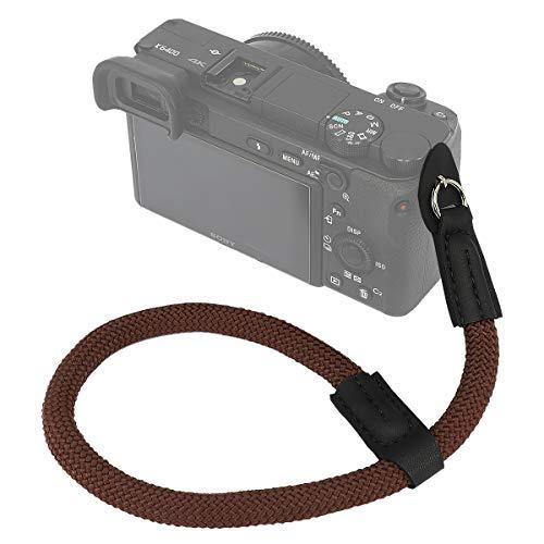Haoge カメラハンドリストストラップ 富士フイルム X-H1 XH1 X30 X70 X100 X100F X100T X100S GFX 50R GFX100 Canon EOS M5 M6用 Nikon 1 J3 J4 J5 V1 V2 V3 S1