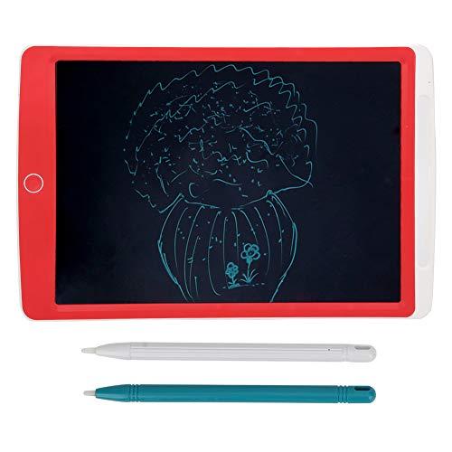 Tableta de Escritura LCD, Adecuada para Que Las Madres enseñen la Almohadilla de Dibujo electrónica con tecnología Sensible a la presión LCD, sin Necesidad de cargarla o enchufarla(Red)