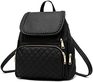 Fashion leather shoulder bag backpack school bag for women