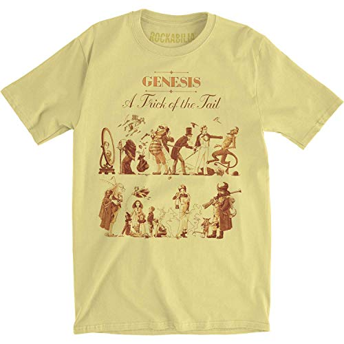 Genesis - - Hommes A Trick of the Tail T-Shirt Equipée Jersey, X-Large, Banana