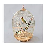 オウムのケージ バードケージ装飾オウムケージツグミMyna大きな金属バードケージペットホームポータブルバードケージ 鳥かご (Color : 1)