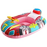 Toddler Pool Floats, Inflatable Kids Water Float Ring with Handle, Safe Material and Soft Seat, Baby Swimming Ring for Under 1 Year Kids (Car)