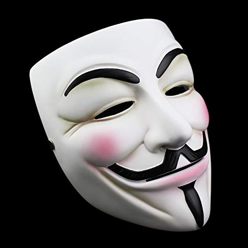 NEWX Halloween Maske, V für Vendetta Maske Erwachsene /Kinder Guw Fawkes Maske Anonyme Maske V für Vendetta-Gesichtsmaske Fancy Adult Costume Accessoires