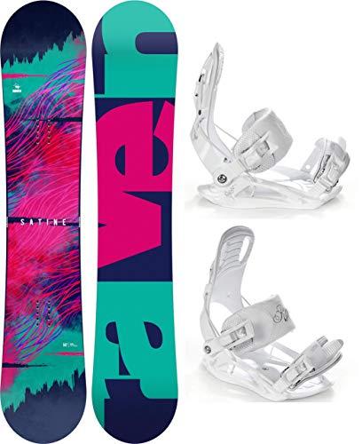 Raven Snowboard Set: Snowboard Satine + Bindung Luna (144cm + Luna S)